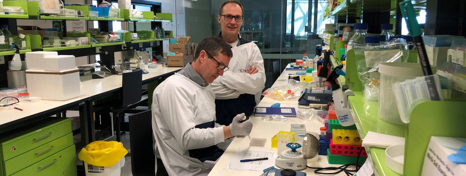 Donate to SA Research SAHMRI lab Cytokines Mike and Martin landscape