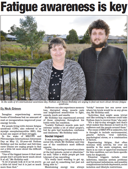 2018 May Awareness Article Mt Barker Courier May 2018